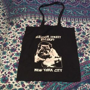RARE tote bag from Bleecker Street Records